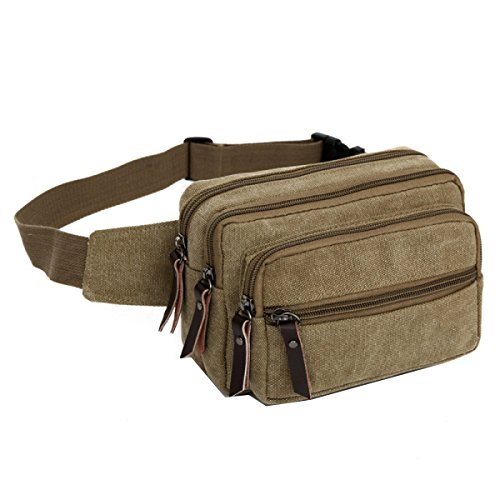 LAIDAYE Männer Schulter Messenger Tasche Business Freizeit Mehrzweck- Reiserucksack Brown