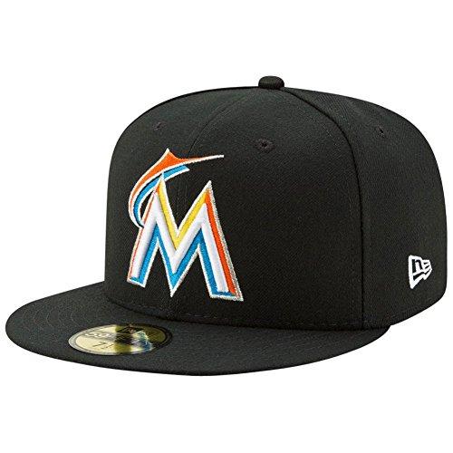 New Era 59Fifty Cap - AUTHENTIC Miami Marlins noir