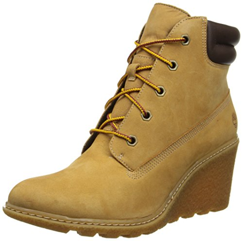 Timberland Damen Amston 6in Kurzschaft Stiefel, Braun (Wheat), 41 EU Timberland Womens Heels