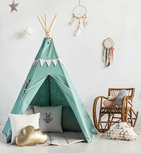 Tipi-indio-Tienda-de-campaa-para-nios-para-Escondite-Sitio-jugar-teepee-wigwam-indien-tenta-tent-carpa