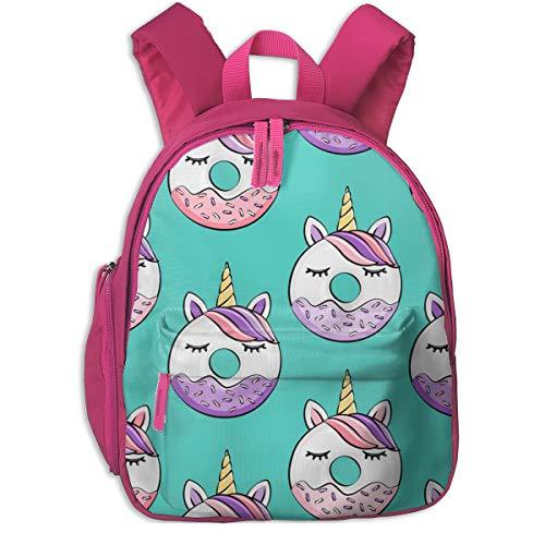 Zaino per bambini 2 anni,Ciambelle all'unicorno (rosa e viola) Teal_2881 scuro - littlearrowdesign, Per le scuole per bambini Panno oxford (rosa)