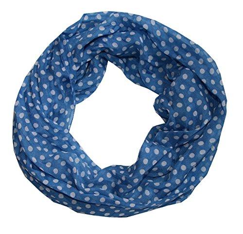Punkte Seidenschal Seide Loop Schal (Big blau) - Bild 1