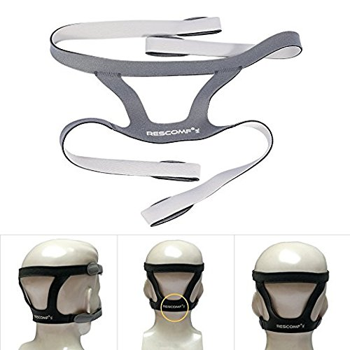 4-punkt-kopfband (Universal Vollmaske Kopfbedeckung, 4 Punkte Nasal Maske Stirnband Kopfband Mask Headgear ohne Maske)