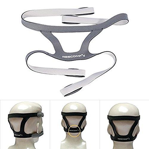 Universal Vollmaske Kopfbedeckung, 4 Punkte Nasal Maske Stirnband Kopfband Mask Headgear ohne Maske (Stirnband Medizinische)