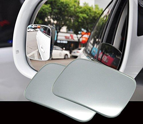 Blind Spot Spiegel–kalinu 2Packungen Aufklebbares Rückspiegel für Universal Car SUV LKW Motorrad Van quadratisch (Spot Powersport)