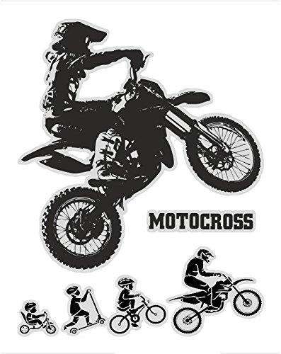 quattroerre 6332Pegatina Moto Cross Tabella dimensiones 10x 12cm