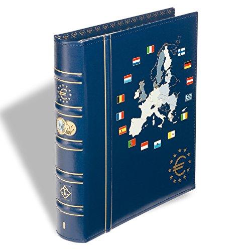 Leuchtturm 330256 Vista Euro-Münzalbum Band 1 | Für Kursmünzensätze der 12 Euro-Länder der Ersten Stunde | Inkl. 6 VISAT Münzblätter