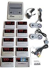 Sammlung: Super Nintendo SNES Konsole inkl. Super Mario World + 2 Controller + Kabel + Netzteil + 9 weitere Zufallsspiele