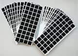 Adsamm® | 2000 x almohadillas de fieltro | 25x25 mm | negro | cuadrado | Protectores de suelo para patas de mueble | auto-adhesivos | con grosor de 3,