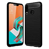 Golden Sand Zenfone 5Z Cover Back Case Original Carbon Fibre Shockproof Armor TPU Back Cover Case for Asus Zenfone 5Z Mobile Phone, Midnight Black