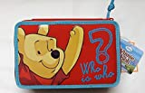 ASTUCCIO 3 CERNIERE ZIP TRIPLO 3 PIANI WINNIE THE POOH CON COLORI ACCESSORI