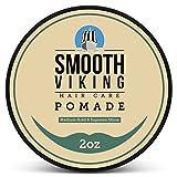 Pomade für Männer – Haar Styling Formel für mittleren Halt und tollen Glanz – Perfekt für glattes, dickes und lockiges Haar – 2 OZ – Smooth Viking