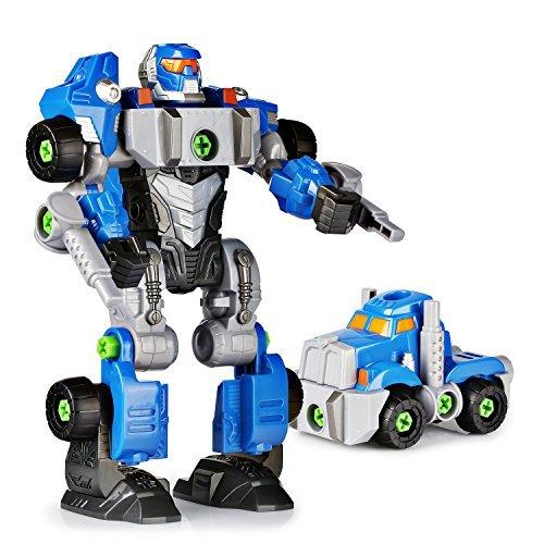 SainSmart Jr. Happkid Montage Spielzeug Transformation Roboter für Kinder 3-in-1 Take Aparts Bauspielzeug BAU Roboter Konstruktionsspielzeug mit Bohrmaschine (42 Teile) (Bau-spielzeug Für Kinder)