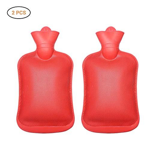 EisEyen Mini Kinderwärmflasche Klein Set Fußwärmer Wärmflasche mit Bezug Für Kinder Und Baby