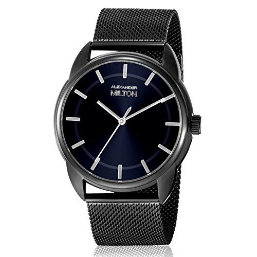 ALEXANDER MILTON - montre homme - TELLUS, noir/bleu