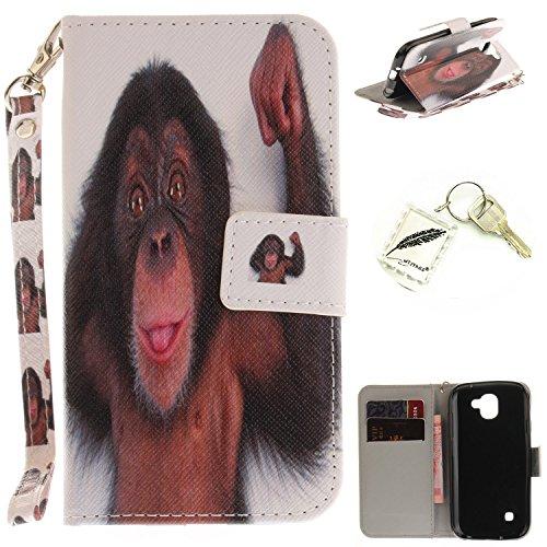 Preisvergleich Produktbild Silikonsoftshell PU Hülle für LG K3 (2017) (4.5 Zoll) Tasche Schutz Hülle Case Cover Etui Strass Schutz schutzhülle Bumper Schale Silicone case+Exquisite key chain X1#KE (12)
