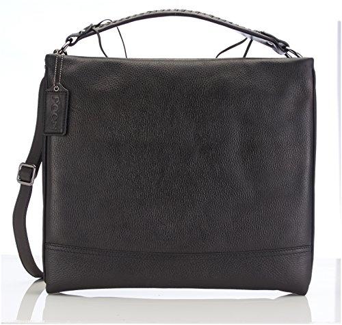 POON Switzerland Damen Handtasche & Schultertasche Schwarz Lammleder