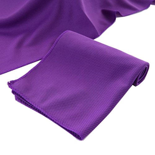 TAOtTAO Sport Fitness Cold Sensation Microfibre Towel Multi-purpose Fast Drying Travel Gym Beach Towels Swiming Bath Body Saunas Towel Pilate Yoga Mat Camping, Hiking, Swimming, Running, Golf, All Sports (purple)
