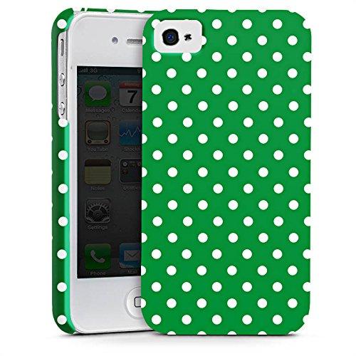 Apple iPhone X Silikon Hülle Case Schutzhülle Muster Polka Punkte Grün Premium Case glänzend