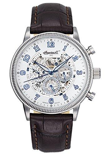 Ingersoll Herren Analog Automatik Uhr mit Leder Armband IN7218WH