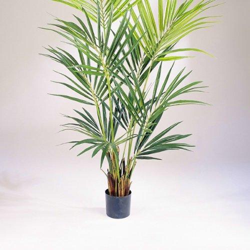 artplants Set 2 x Künstliche Kentia Palme Natural, 192 Blätter, 200 cm – hochwertige Dekopalme/Kunstpalme