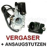 Unbranded Sport VERGASER 17,5mm E-Choke ANSAUGSTUTZEN für Piaggio SFERA NSL RST 2TAKT 50