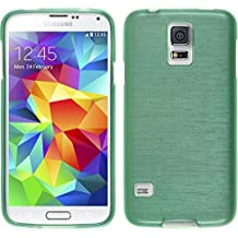 PhoneNatic – Carcasa para Samsung Galaxy S5 Mini Funda Silicona Verde Brushed Cover Galaxy S5 Mini Funda Case