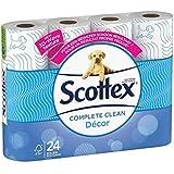 Scottex Papier Hygiénique Classic Clean Décor 24 rouleaux