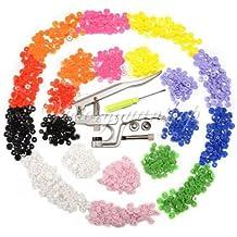 Generic yanhong-uk3–151106–981yh5139yh n Popper dilatacion resina/plástico asteners Cl KAM Snap Kam Snap Fasteners Clip botón T5T8Re alicates + 150Set T3T5T8ers + 150S Popper Stud