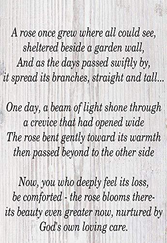 Yohoba Freundschaftsschild Loved One Bereavement, Gedicht zum Aufhängen im Freien