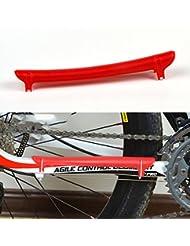 VANKER 1X ciclismo de montaña cadena de la bici de vaina protector de cubierta del protector de Atención (Rojo)