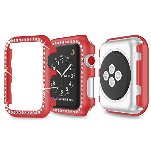 Für Apple watch Serie 3 Hülle 42mm,iWatch Series 3 Bildschirmschutz Apple Watch 2 Case Damen Protective Bumper Cover iWatch 42mm Schutzhülle Schutz Case für Apple Watch Series 3 Series 2