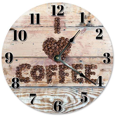 Wanduhr Macaron Coffee