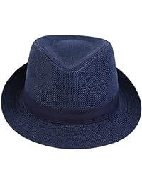 LBY Sombrero De Visera Sombrero Fresco De Verano para Hombres Gorro De Ocio  Sombrero De Paja De Pescador Transpirable Hombres Sun… 477d4e0f171