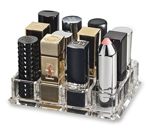 byAlegory Acryl Lippenstift Makeup Organizer Entwickelt für größere Basis Lippenstifte | 12 Räume