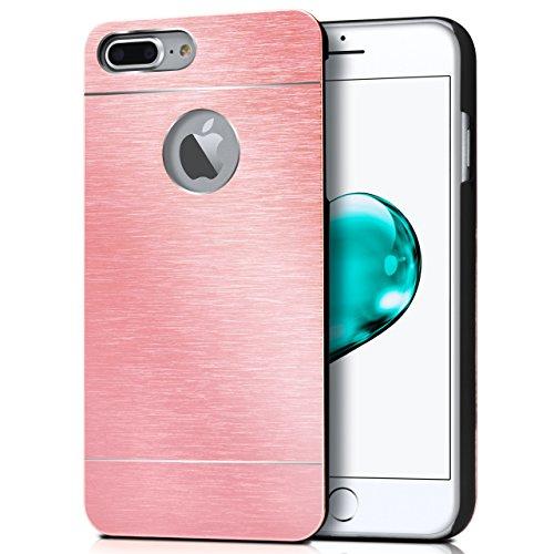 iPhone 7/8 Hülle Dünn Schwarz [OneFlow Aluminium Back-Cover] Schutz Handytasche Ultra-Slim Handy-Hülle für iPhone 7/8 Case Metall Schutzhülle Alu Hard-Case PURPUR