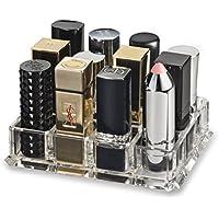 Holder acrilico grande Rossetto Organizzatore e Beauty Care offre 12 Ripostiglio | byAlegory (chiaro)