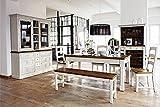 Beauty.Scouts Esszimmer Riviera Grande 8tlg, Vintage Design, Massivholz, Komplett Programm, recyceltes Kiefernholz, honigfarbig, 458x215x90cm