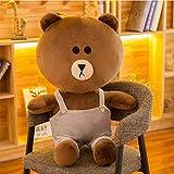 X&MM Peluche Orso Marrone Orso Kenny Coniglio Peluche Bambola Coppia Abbraccio Bear Cute Peluche Bambola Ragazza Regalo di Compleanno,D,90cm