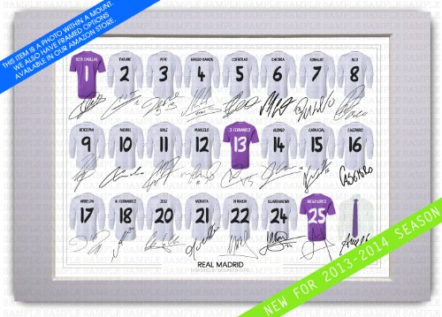 472f2f318d6 MOUNTED REAL MADRID FULL SQUAD TEAM SIGNED 12X8 INCH MOUNT WITH PRINTED  AUTOGRAPHS PHOTO PRINT PHOTOGRAPH AUTOGRAPHED POSTER JERSEY SHIRT GIFT  PRESENT XMAS ...