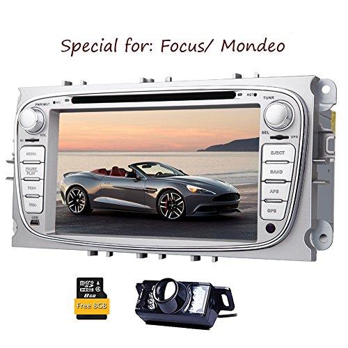 Eincar Rückfahrkamera inklusive !!! Für Ford Focus Mondeo (Unterstützung Jahre vor 2012) 7inch Indash AUTO-DVD-Spieler GPS-Navigation Navi iPod Stereo Bluetooth-HD-Touchscreen Radio RDS FM -