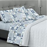 - Goldenhome - Juego completo de sábanas matrimoniales formado por: 2 fundas de almohada + sábana bajera con esquinas elásticas ajustables + sábana encimera