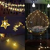 HEIFEN Global Light String Leading Star Lichterkette Batterielicht Blinkend 3m 20m Und 6m Rot USB-Stil-Raumvorhang-Dekoration