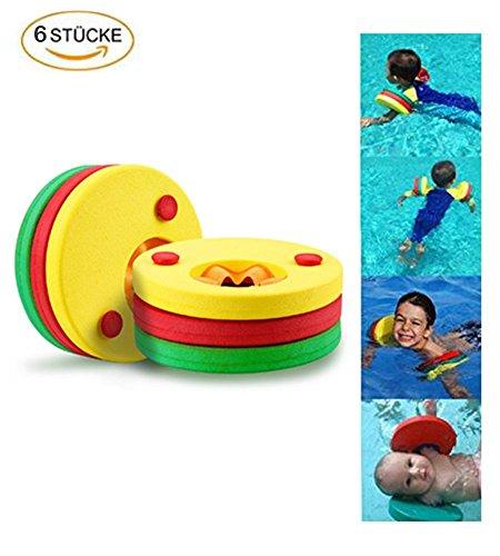 KingShark Discos flotantes, 6 piezas natación ayuda natación vuelos,