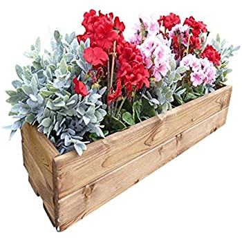 Wooden Window Box 55cm X 18cm X 18cm Amazoncouk Garden Outdoors
