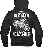Bequemer Hoodie Damen / Herren / Unisex - M - Old Man with a Dirt Bike