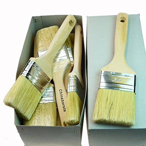 rotix-91526, set di 3 pennelli piatti, 60 mm spessore 60 mm per pittura (setole chiare).