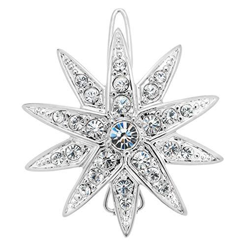 """Große Haarsapnge\""""Diamantstern\"""" mit funkelnden Swarovski Kristallen Sisi Schmuck Haarschmuck Stern-Form Durchmesser 3,5cm Verpackt in schöner Geschenkbox Tolles Geschenk für Sisi Fans"""