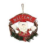 Weihnachten Kranz deko, Gusspower Weihnachtsfeier Poinsettia Pine Haustür Kranz DIY Dekoration, für Heim Yard Indoor Outdoor Tischdekoration Allwetter Außenkranz (B)