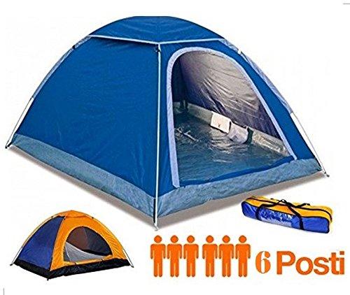Tenda campeggio 6 posti canadese igloo campeggio mare viaggio con zanzariera
